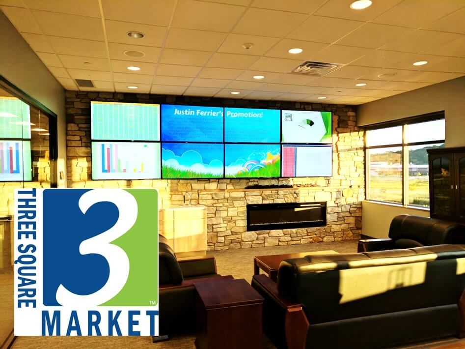 Three Square Market Install Video Walls
