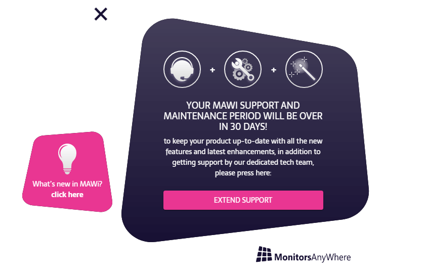 mawi activation support period end