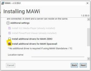 mawi spacewall client